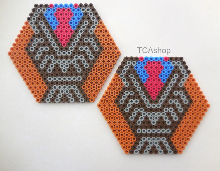 Doctor Wh - Whovian themed hexagon drink coasters set hama beads by TCAshop