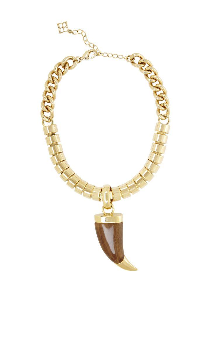 horn necklace bcbg