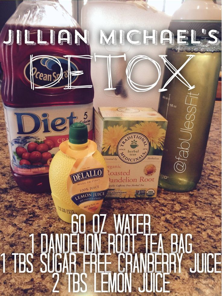 The famous Jillian Michael's Detox recipe!