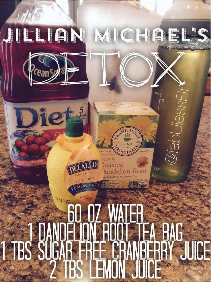 The famous Jillian Michael's Detox recipe!
