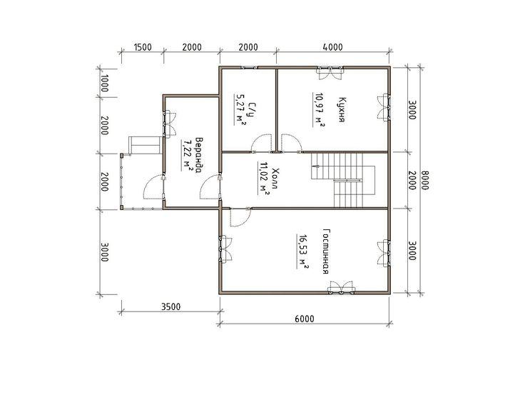Готовый проект каркасного дома 9,5x8 от Строительной компании «ДОМ МЕЧТЫ».
