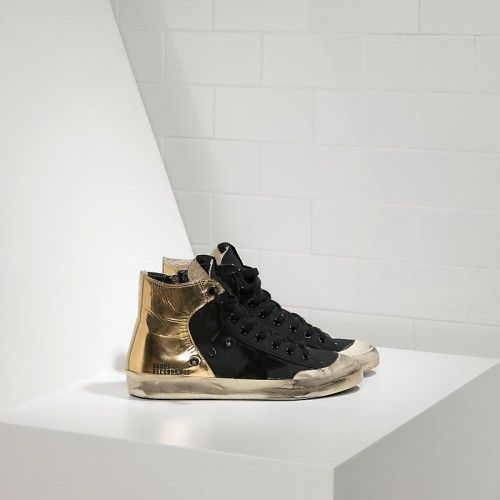GGDB Chaussure Running Femme - Soldes Golden Goose Deluxe Brand Records EDT Couples Chaussure Or Noir