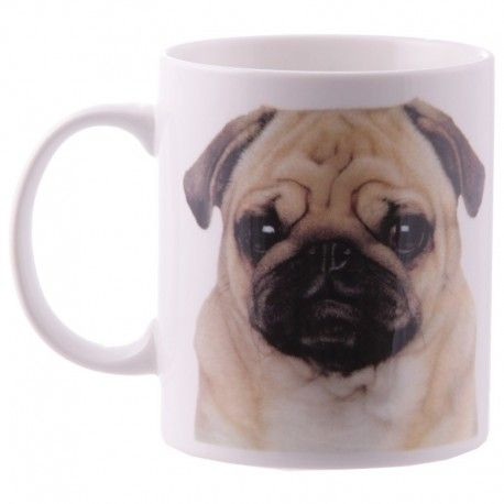 Mug en porcelaine - Têtes de carlin