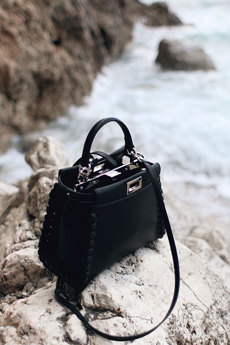 All Black Outfit in Sicily: Mini Peekaboo Bag – Fendi S/S 16 - teetharejade.com