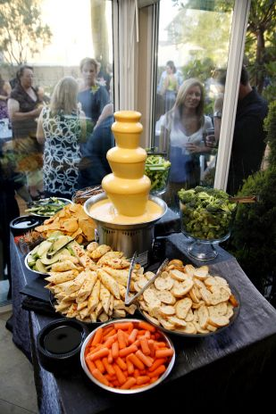nacho cheese fondue anyone? from a wedding coordinated by Pop The Champagne Events http://popthechampagneevents.com/