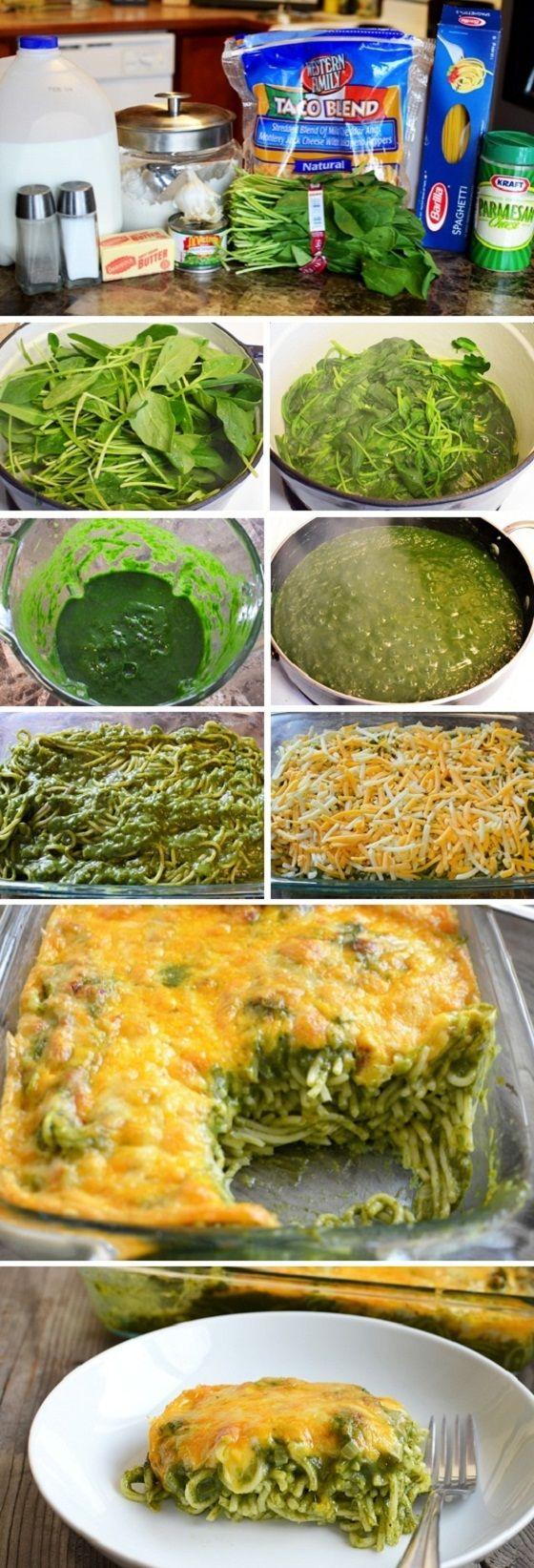 Cheesy Spinach Pasta Bake