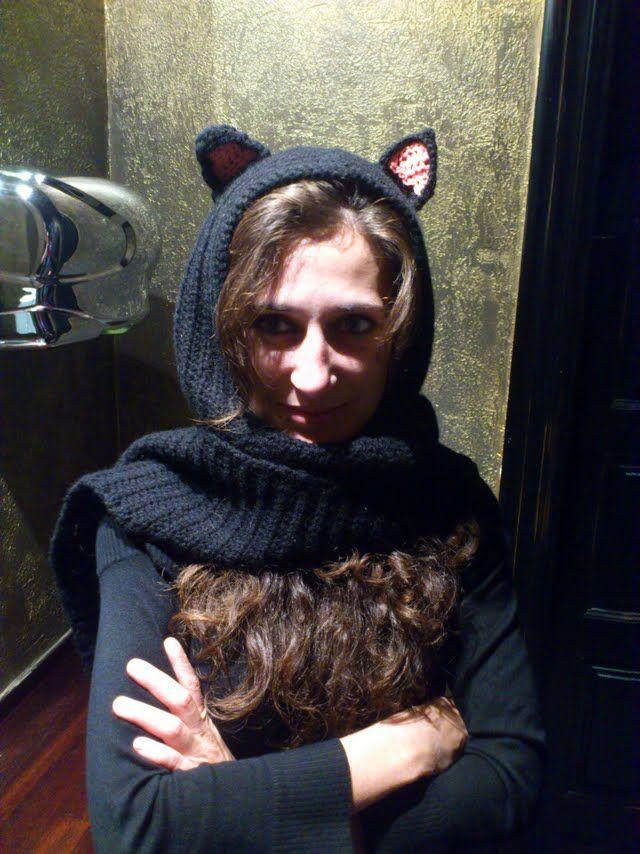 arMi-arMa: Bufanda con capucha y orejas de gato