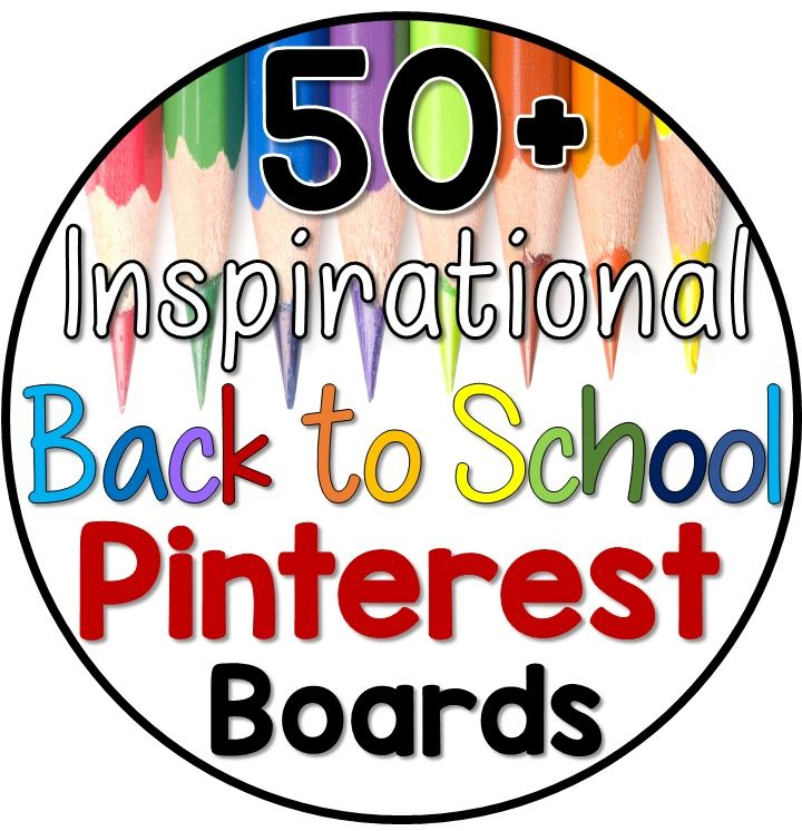 Back to school Pinterest board round up.