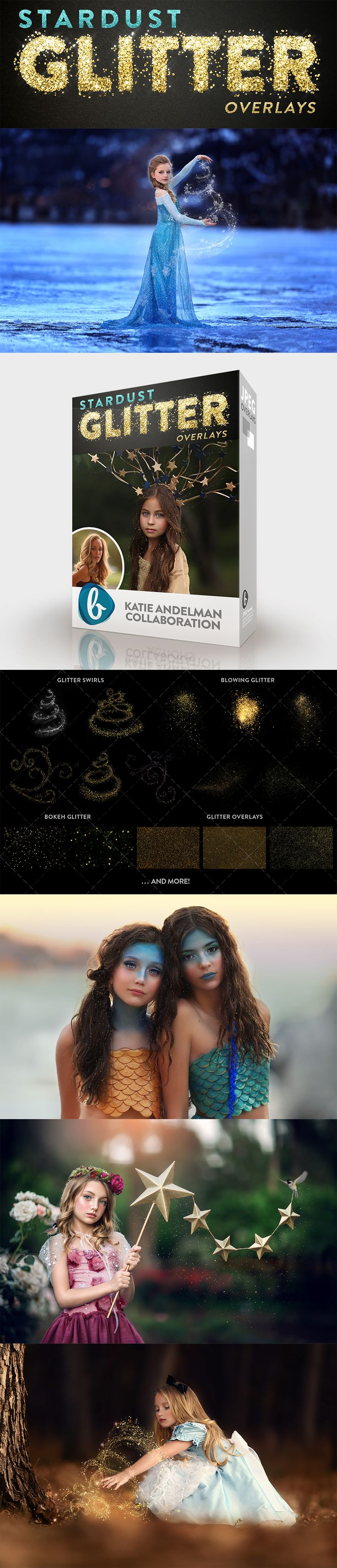 Bellevue Avenue   Stardust Glitter Overlays. 1 Glitter Applicator Action + 16 Gold & Silver Glitter +   20 Colorful Glitter + 14 Bokeh Glitter + 5 Swirling Glitter + 7 Blowing Glitter that will help you create a starry glitter effect in your images. Quick and easy to apply in Photoshop, Creative Cloud and Lightroom (with OnOne's Perfect Layer Plugin) https://bellevue-avenue.com/collections/textures-and-overlays/products/stardust-glitter-overlays
