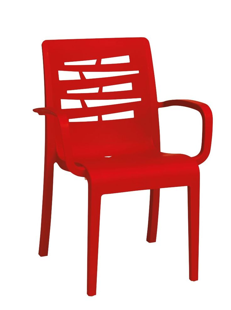 Essenza Stacking Armchair Red - Armchairs - Exterior - Chairs & Barstools