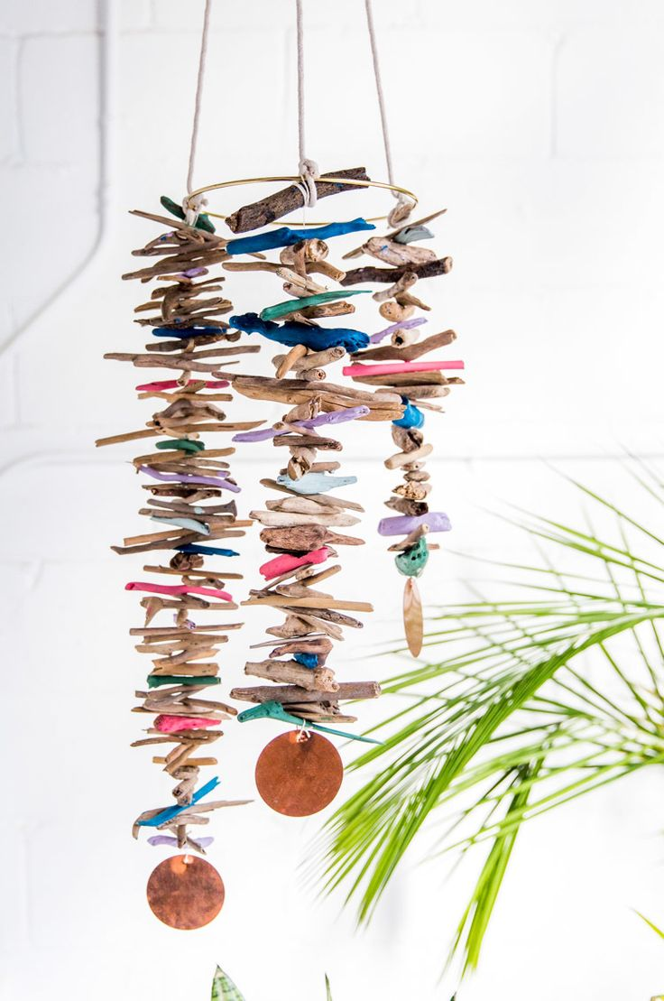 Finished driftwood mobile