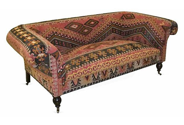 George Smith Standard 84 Quot Chesterfield Sofa Kilim On