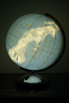 RARE Art Deco Columbus Glass Sky Globe with Lamp WW Ii°himmelsglobus°globus | eBay