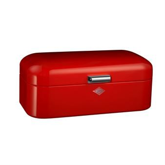 The wonderful Grandy bread box red is a true retro classic from Wesco! The lovely color suits well on the design from the 40´s and this beauty is going to light up your kitchen. Grandy is a classic bread box but can equally be used for other dry goods or storage for kitchen articles. No matter what you use it for, Grandy bread box red will last for many years!