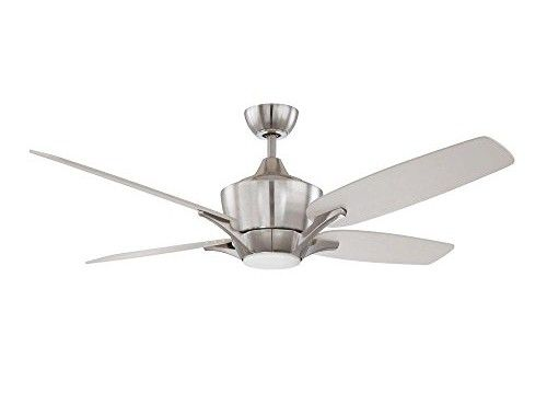 Kendal-Lighting-AC19152-SN-Futura-52-Inch-4-Blade-1-Light-Ceiling-Fan-Satin-Nickel-Finish-with-Silver-Blades-and-Opal-White-Glass-Light-Kit-0
