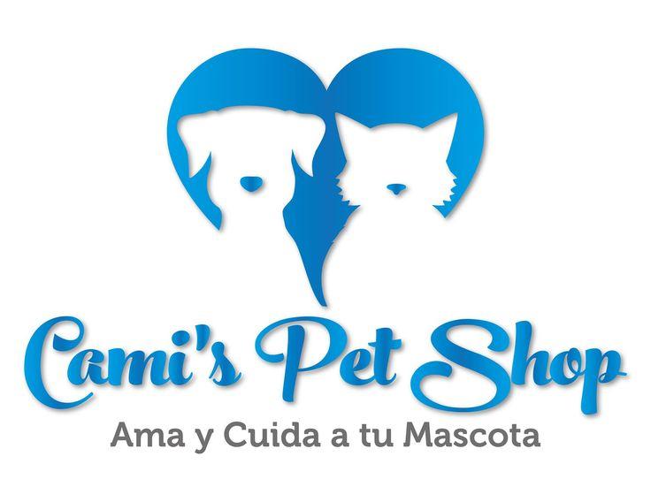 Diseño de Logo para Cami´s Pet Shop Angiee Padilla© 2016 todos los derechos reservados. #Diseño #Logo #CamisPetShop #Perros #Gatos