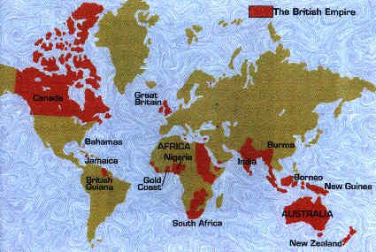 This is a map of the British Empire during the age of Queen Victoria ...
