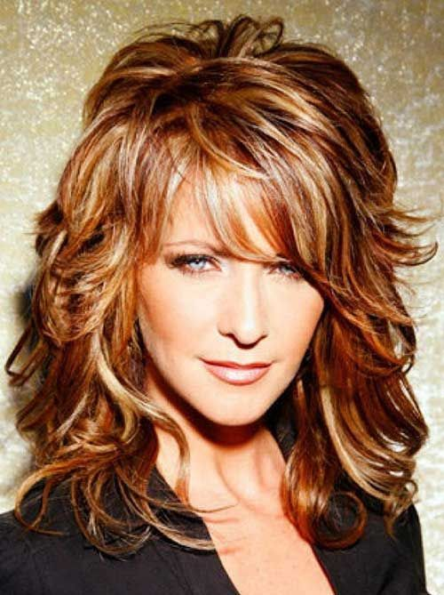 Bangs Medium Faces Length Round Hairstyles