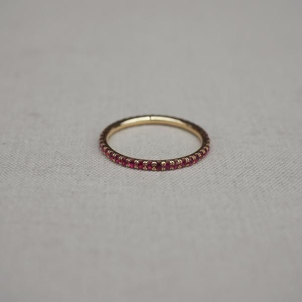 Solid Gold Eternity Is Too Short Ruby Ring