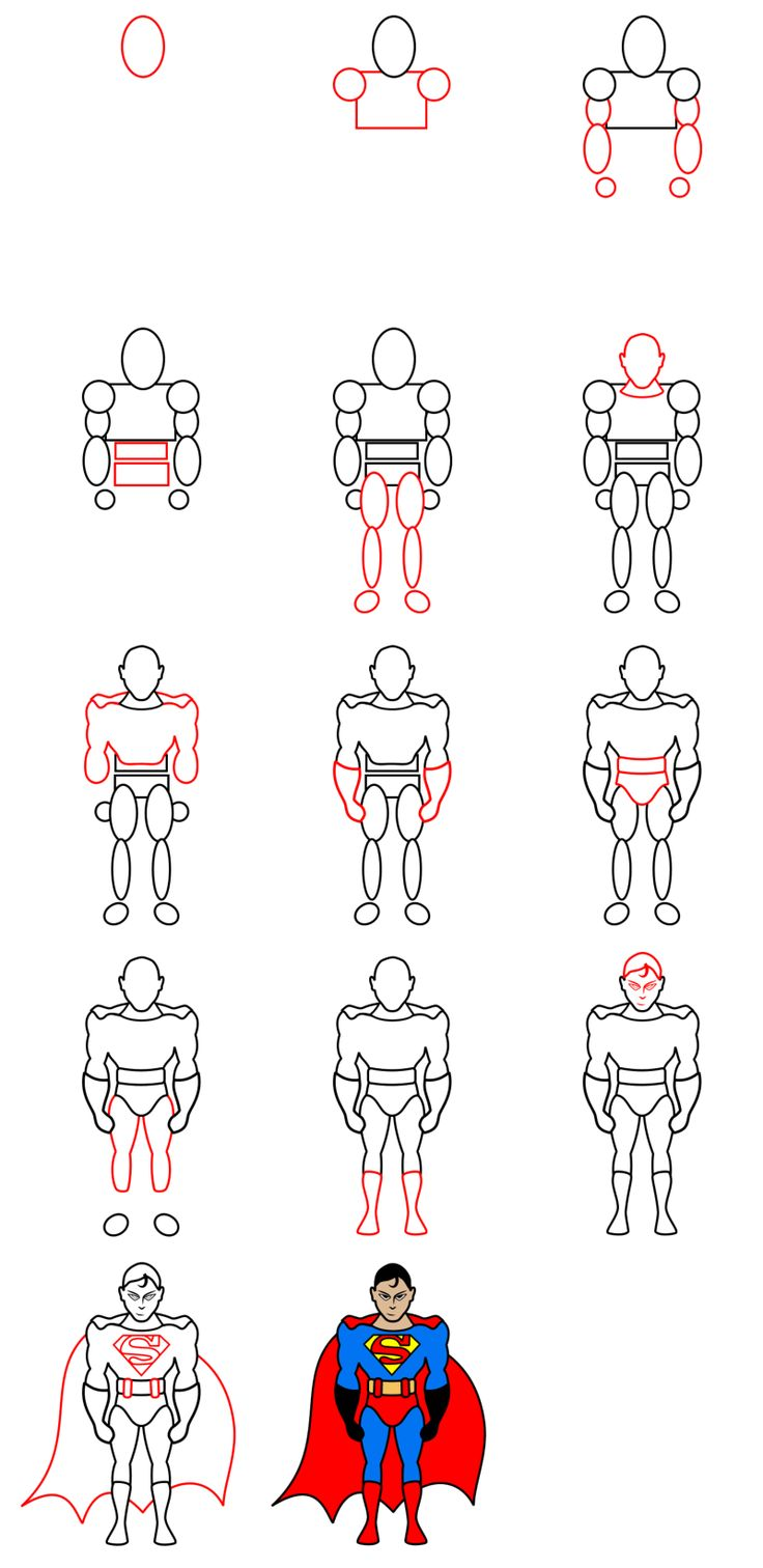 how to draw batman vs superman step by step