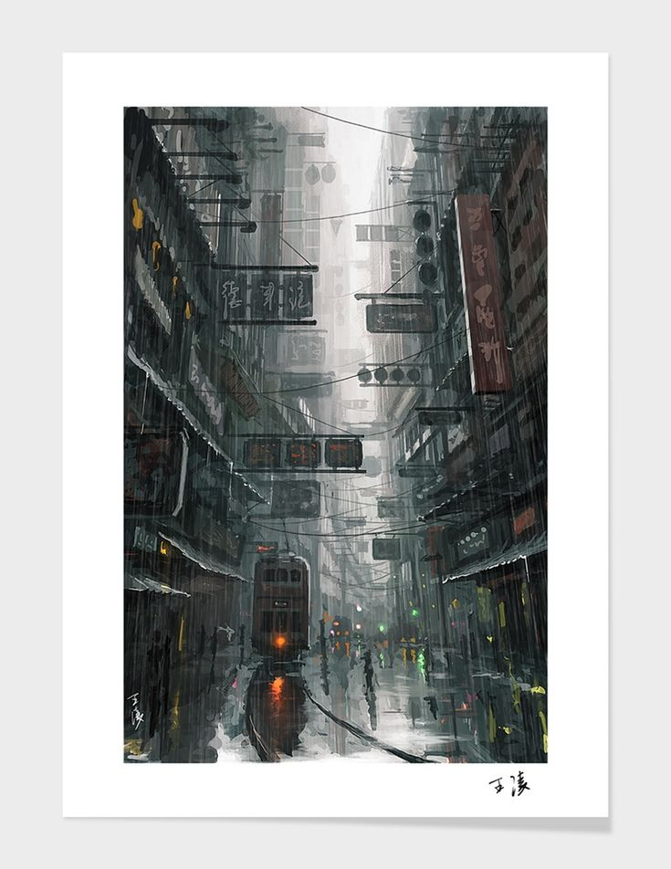 """The City"" - Art Print - wlop 
