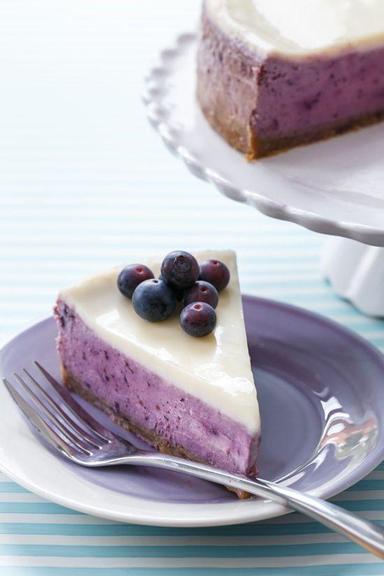 Blueberry Creme Fraiche Cheesecake