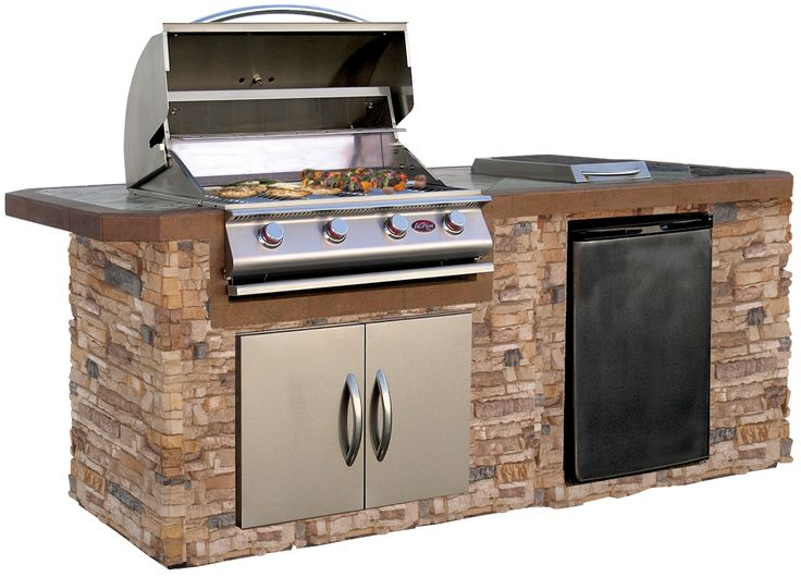 kitchenaid 4 burner stainless steel gas barbecue grill with side burner + cover