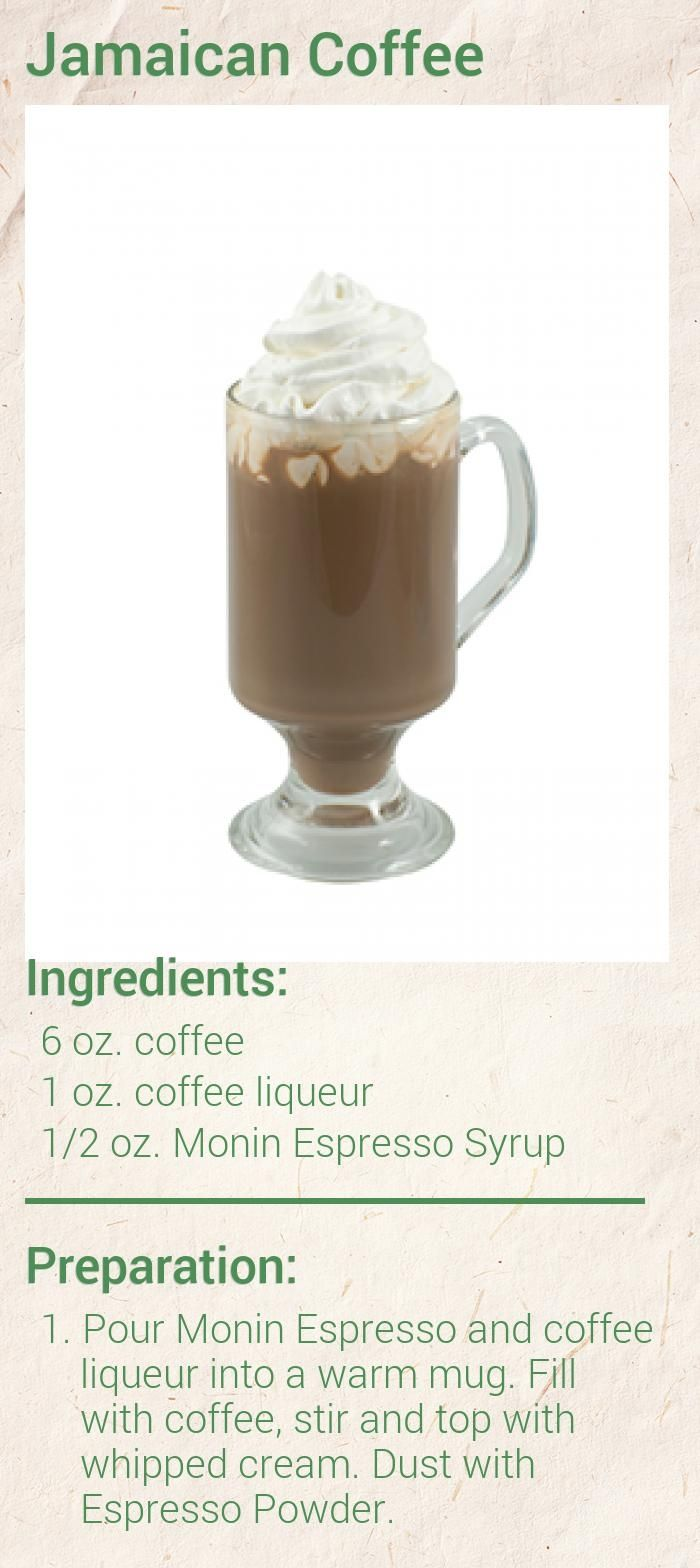 Jamaican Coffee Recipe - Monin