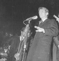 Robert Kennedy announcing that Martin Luther King had been assassinated - April 4, 1968