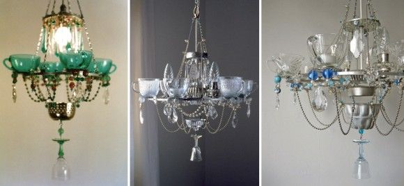 dish chandeliers. funky.Dollar Stores Crafts, Diy Chandeliers, Dishes Chandeliers, Teas Cups, Kitchens Dishes, Teacups Decor, Kitchens Chandeliers, Dollar Store Crafts, Kitchens Utensils