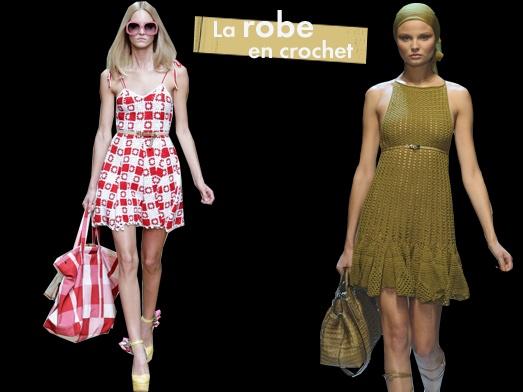 Fashion week de Milan: toutes les tendances La robe en crochet