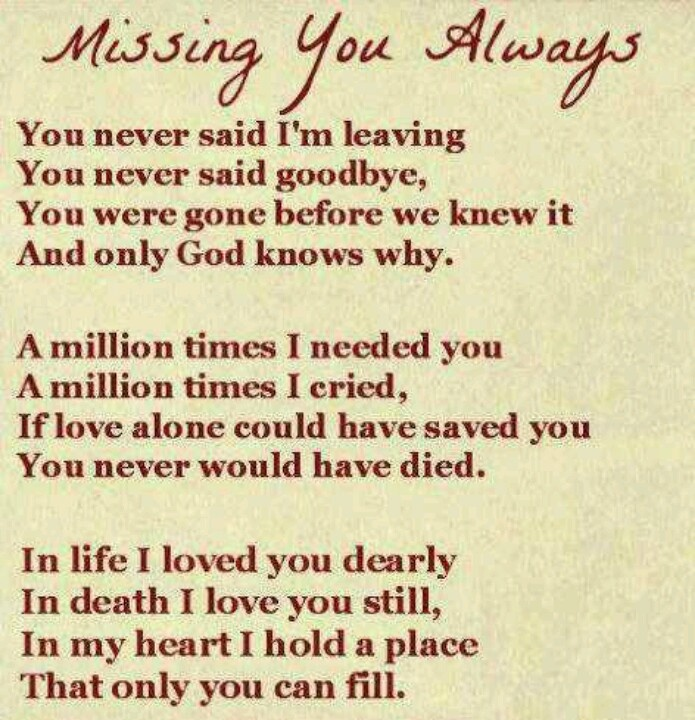 Lovely poem | Grandpa john | Pinterest | Miss You, I Miss ...