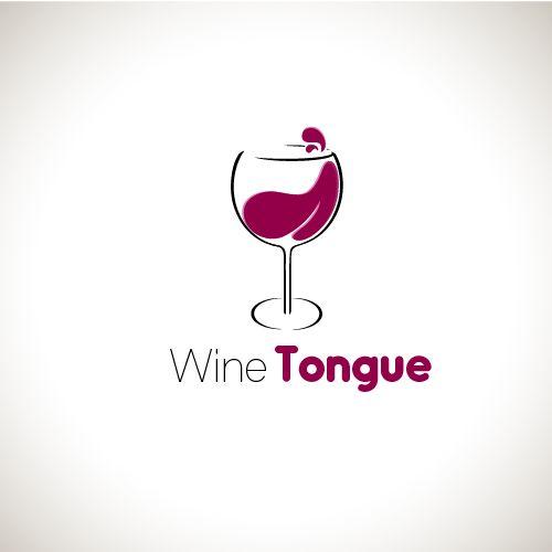logo design for wine tongue