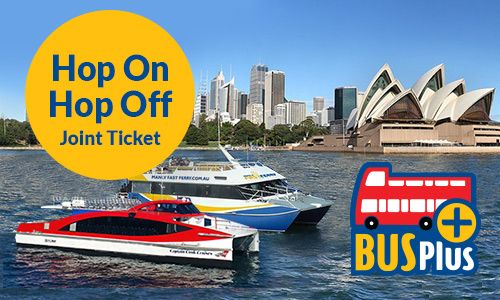 $65 (24hrs) Traveller's Companion - Hop On Hop Off Joint Ticket - Sydney Harbour cruise and city bus tour. With your 24-hour passes -- one for each tour - explore Sydney and Bondi aboard an open-top double-decker bus and visit sites such as the Sydney Opera House, The Rocks, Chinatown and the Royal Botanic Gardens. On your Sydney Harbour cruise, stop at sites such as Darling Harbour, Circular Quay, Watsons Bay, Manly and Luna Park.