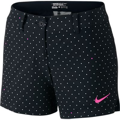 Black/Summit White & Wolf Grey/Summit White Nike Ladies Greens Print Golf Shorty Shorts