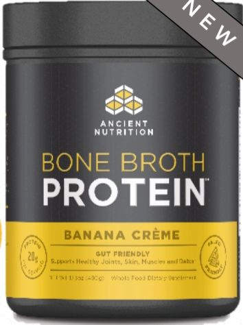 Bone Broth Protein Banana Creme is a NEW breakthrough in nutritional supplementation—making the benefits of bone broth available to everyone in a convenient, easy-to-mix, portable great tasting protein powder—complete with 20g of gut friendly protein per serving.