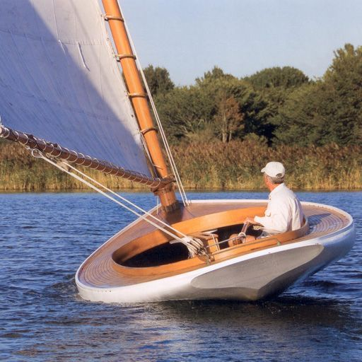 20 39 great south bay catboat design by trudeau much like for Cape cod fishing party boats