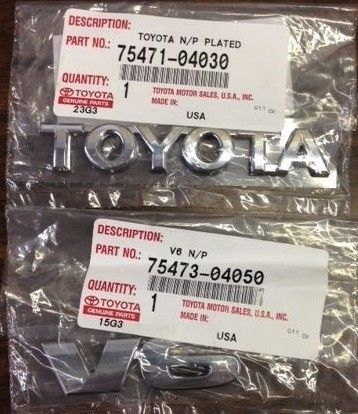 GENUINE TOYOTA TACOMA FACTORY TAILGATE EMBLEMS 2005-2013 MODELS TOYOTA V6 EMBLEM #Toyota