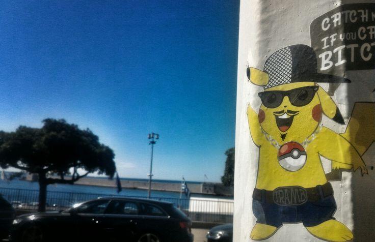 Catch me if you can bit** - Sticker - streetart - Tramb - PokemonGo