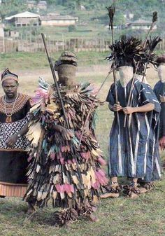 """This is a traditional masquerade that display and perform during festive periods of the Nso village. They differ according to region and villages in Cameroon and only men are allowed to lead these masquerades."