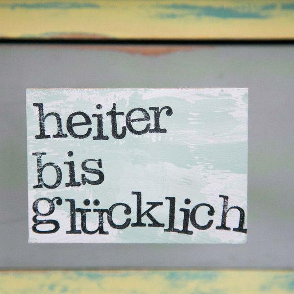 """Kühlschrankmagnete – Magnet """"glücklich"""" – ein De…"""