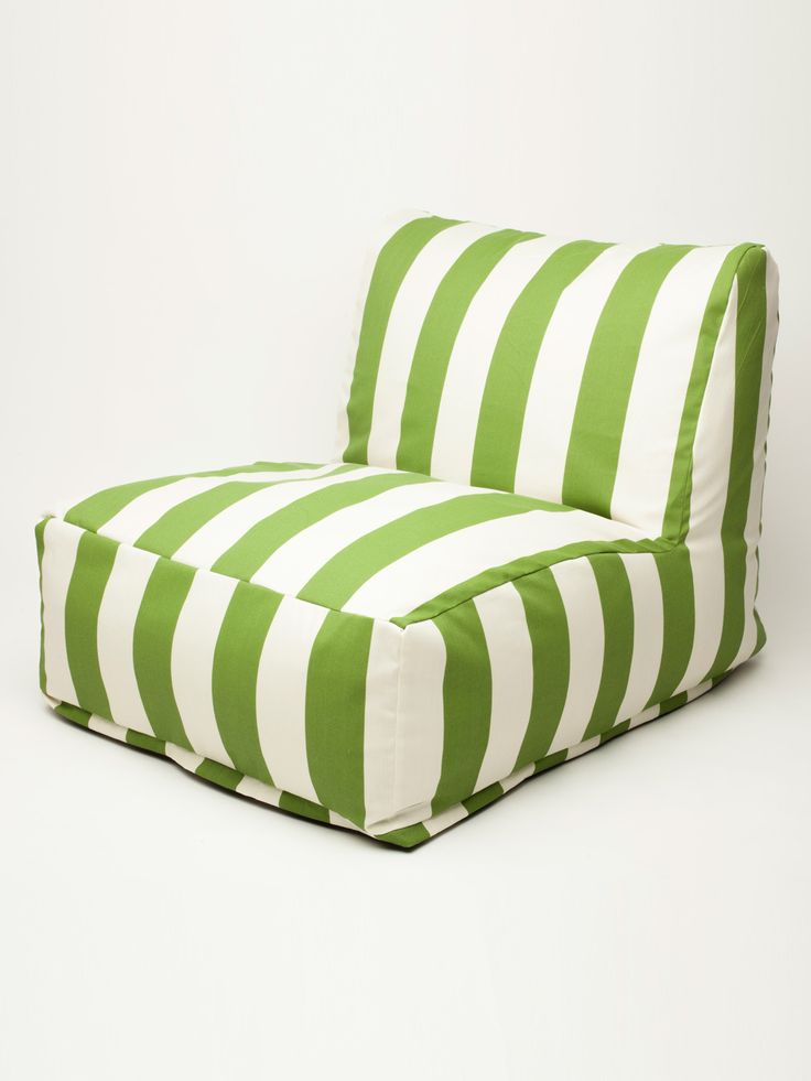 LOVE these cabana striped bean bag chairs for the playroom. And! Indoor/Outdoor Fabric makes them great for the boys! Beanbag Chair by Majestic Home Pet at Gilt