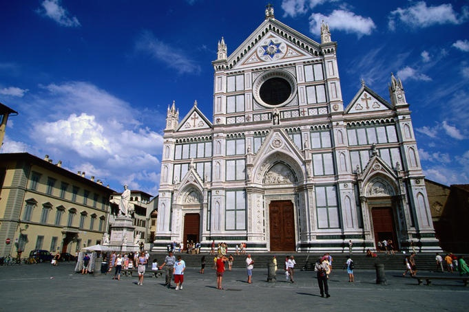 Basilica Santa Croce, Florence, Facade of the Basilica Santa Croce in Florence. Hannah Levy Lonely Planet Photographer © Lonely Planet Images 2011