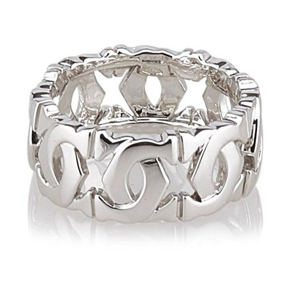 Cartier Pre-Owned: C De Cartier Ring - 50 | Bluefly.Com ($1,140) ❤ liked on Polyvore featuring jewelry, rings, silver, pre owned jewelry, white ring, pre owned rings, cartier ring and cartier jewellery