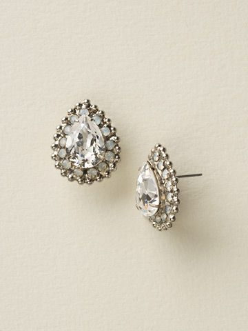 Perfect Pear Cut Earring in White Bridal by Sorrelli - $60.00 (http://www.sorrelli.com/products/ECQ15ASWBR)