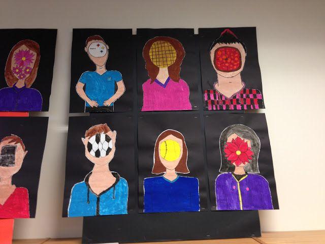 Apex Elementary Art: Magritte inspired Self Portrait