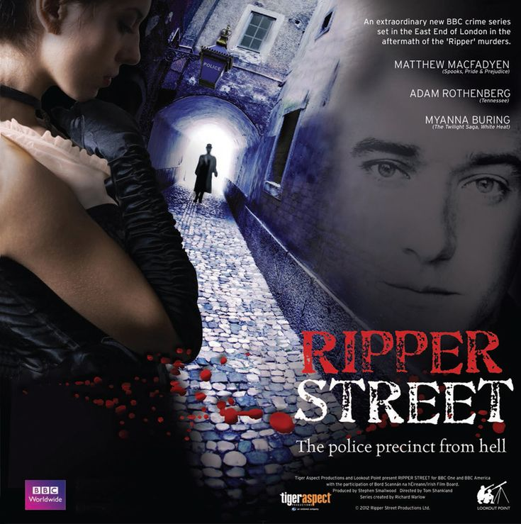 Ripper Street (2012– ) - Stars: Matthew Macfadyen, Jerome Flynn, Adam Rothenberg.  - The streets of London's East End are awash with blood. But this is not the 19th Century; this is not Jack the Ripper - this is a copycat killer and once again the police remain clueless.  -  CRIME / MYSTERY