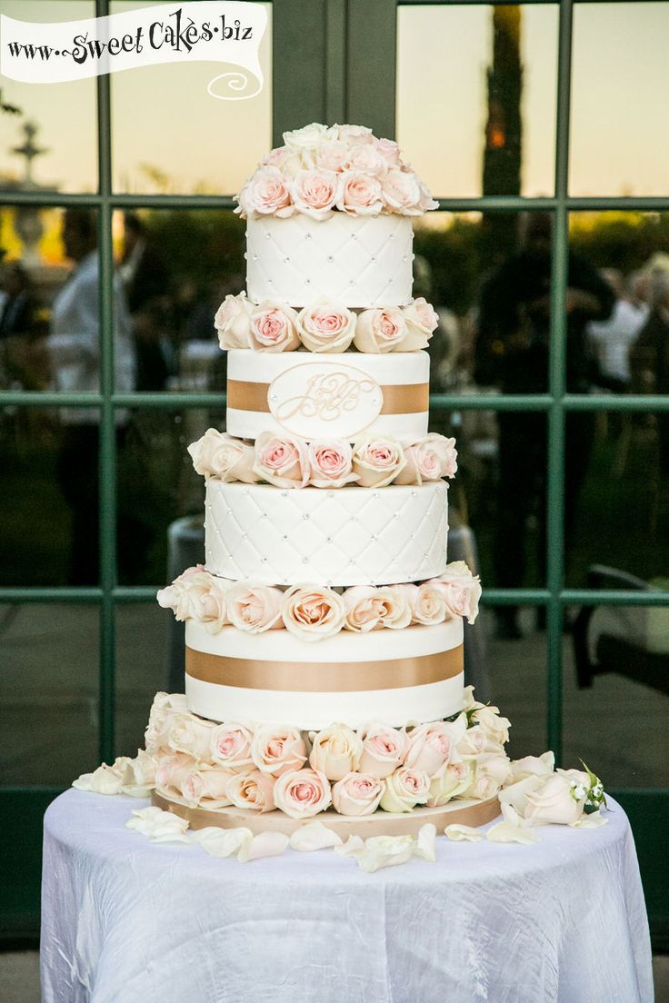 quilted romantic wedding cake by Sweet Cakes by Rebecca ...
