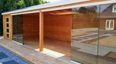 -41- Veranda overkapping met glazen schuifdeuren wand schuifpui