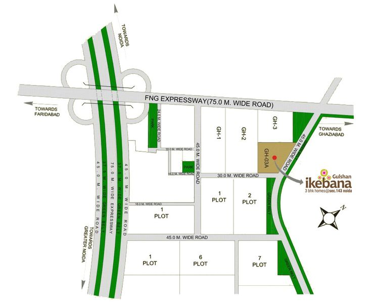 Nearby Proposed Metro Station 20 min. Drive from Akshardham Temple 10 min. Drive from DND Flyover & Sec.18 mkt 10 min. Drive from DND Flyover & Sec.18 mkt  #GulshanHomz #GulshanIkebana #Sector143, #Noida, #NCR, #India
